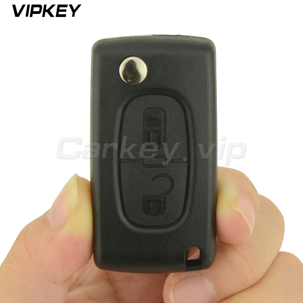 Remotekey CE0523 Flip remote car key 2 button HU83 for Peugeot for Citroen ask 433 mhz ID46 - PCF7941 ...