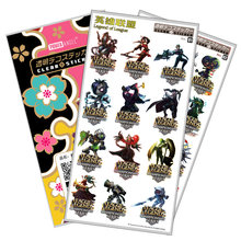 Game LOL Brand Stickers Transparent Waterproof Plastic  Cool Cartoon Toy Sticker for Children