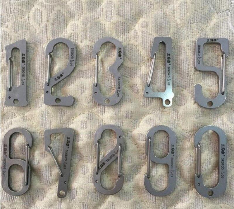 10pcs/lot Sanrenmu High quality stainless steel multitool Number 0-9 mini keychain portable multi tool set,hand tools
