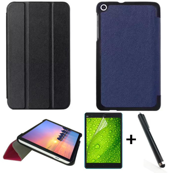 все цены на  New High quality pu leather case cover For Huawei MediaPad T1 7.0  T1-701 T1-701u luxury stand case + screen protector+pen  онлайн