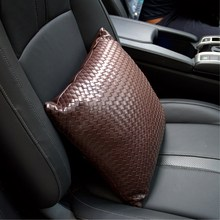 NEW Hand-woven automobile neck pillow waist support cushion and fittings for leather seat