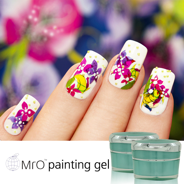 Mro 2 pieces colored uv gel paint polish gel nail polish artificial ...