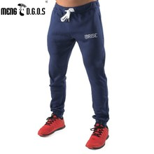 New 2017 gyms Pants Mens Pants Brand Clothing Splice Cotton Trousers Professional Fitness Jogger Sweatpants Men