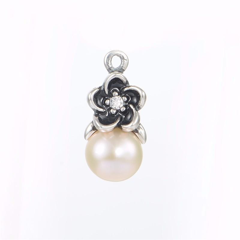 Original-925-Floral-pendientes-de-gota-blanca-perlas-y-piedra-CZ-de-la-joyería-Compatible-la (2)