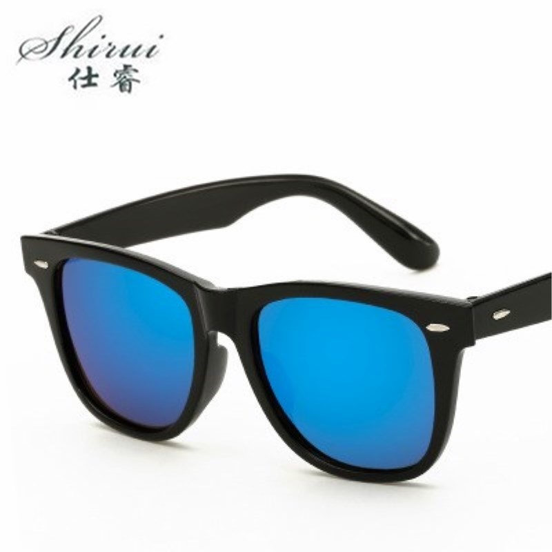 Fashion Sunglasses Men Oversized Sunglasses Men Driving Mirrors Coating Points Black Frame Eyewear Male Sun Glasses UV400 #SR071