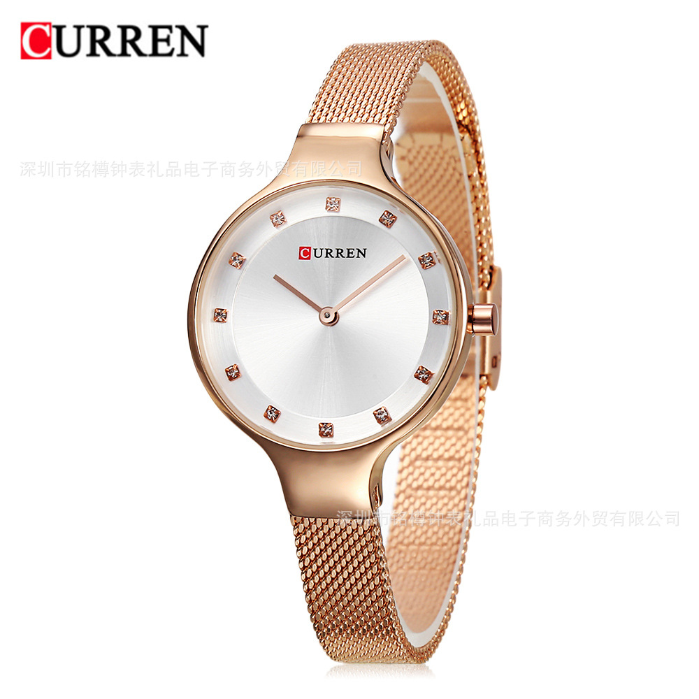 <font><b>CURREN</b></font> Womens Watches Top Brand Luxury Ladies Diamond Rhinestone Dress Wristwatch For Female Quartz Clocks New reloj de mujer #a image