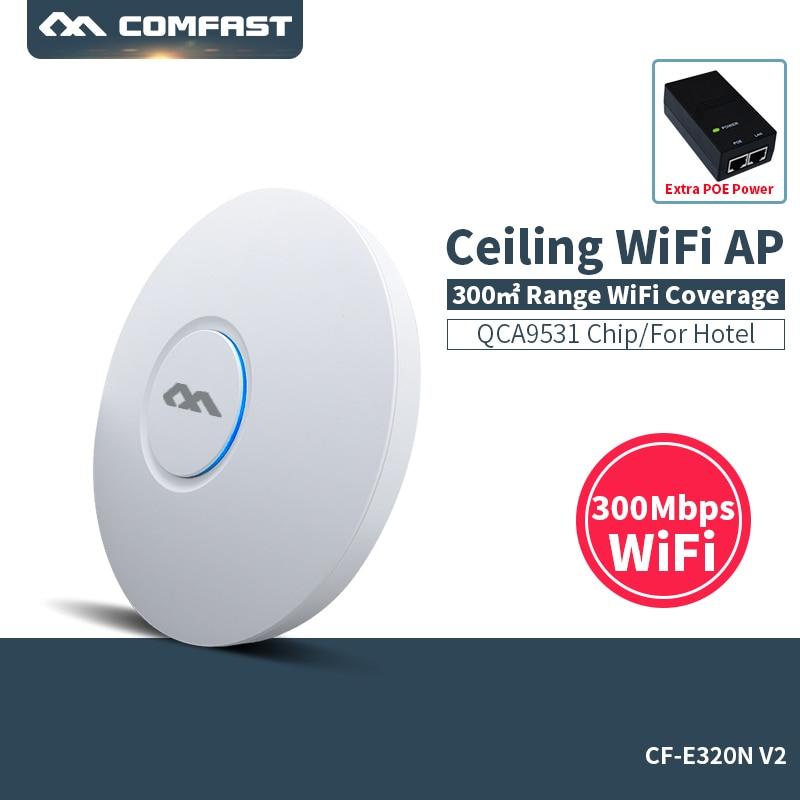 COMFAST CF-E320V2 300Mbps 802.11b/g/n WiFi Ceiling Wireless AP QCA9531 Indoor AP With 48V POE OPEN DDWRT Access Point AP Bridge tuffstuff ap 71lp