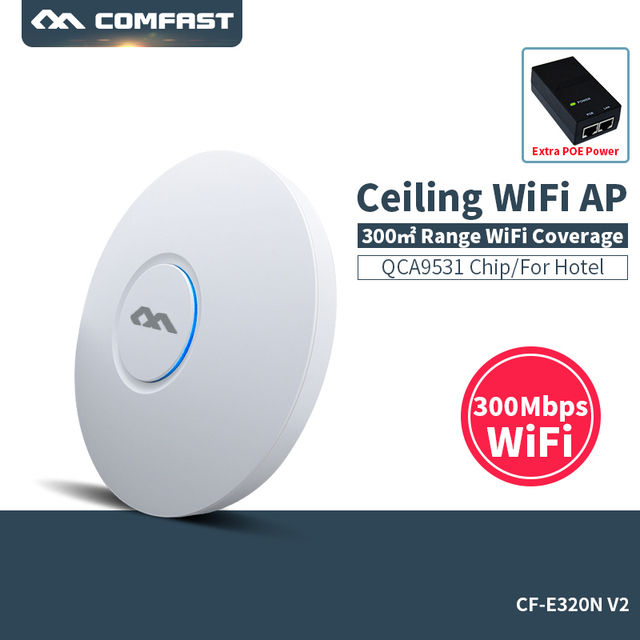COMFAST CF-E320V2 300Mbps 802.11b/g/n WiFi Ceiling Wireless AP QCA9531 Indoor AP With 48V POE OPEN DDWRT Access Point AP Bridge