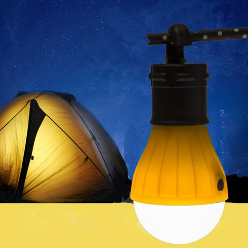 Outdoor Portable Hanging LED Camping Tent Light Bulb Fishing Lantern Lamp Torch 2 Colors energy saving camping light mingray 3w mini camping lanterna led bulb aaa battery outdoor portable light water resistant tent camping lantern led bulb