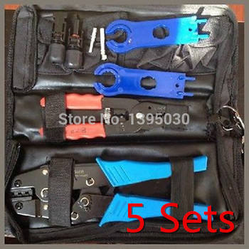 5Sets/Lot MC4 Solar Crimping Tools,solar panel cable,connector crimp tool,PV CRIMPING DIY wire AWG 14 12 10