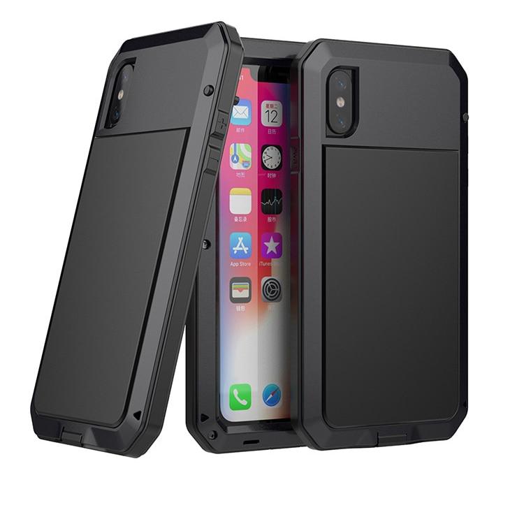 2019 Super Strong Waterproof Armor Metal Aluminum phone Case for iPhoneXR Shockproof Dustproof