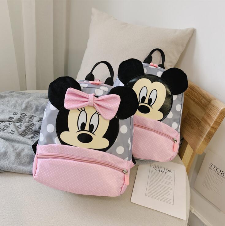 Mickey&Minnie Children Backpacks Kindergarten Schoolbag Kids Backpack Children School Bags Baby Girls Boys Backpacks