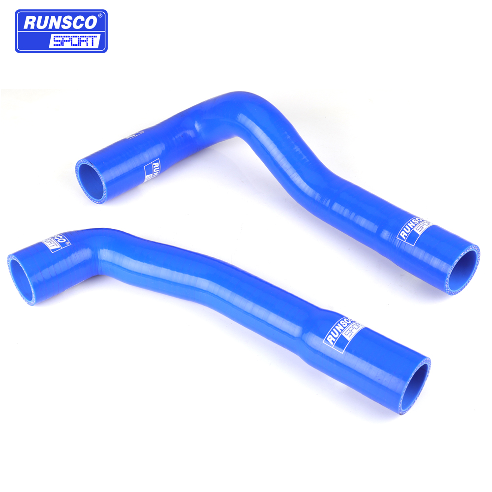 Silicone <font><b>Coolant</b></font> Radiator <font><b>Hose</b></font> Kit For For <font><b>BMW</b></font> E36 325 M3 92-99 Silicone <font><b>Coolant</b></font> <font><b>Hose</b></font> Blue Red Black 2PCs/set image