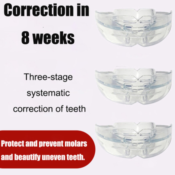 1set Dental Tooth Orthodontic Appliance Trainer for Alignment Braces Teeth Trainer for Adults Tooth Whitening Tools 3 Phases myobrace dental tooth orthodontics dental braces teeth whitening dental orthotics tooth alignment tool orthodontic retainers