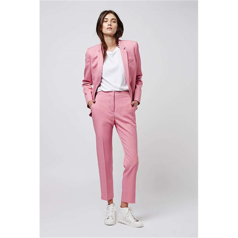 New Arrival Elegant Formal Work Wear Slim 2 PCS Sets Womens Business Suits Two Button Blazer Female Trousers Suit Office Uniform