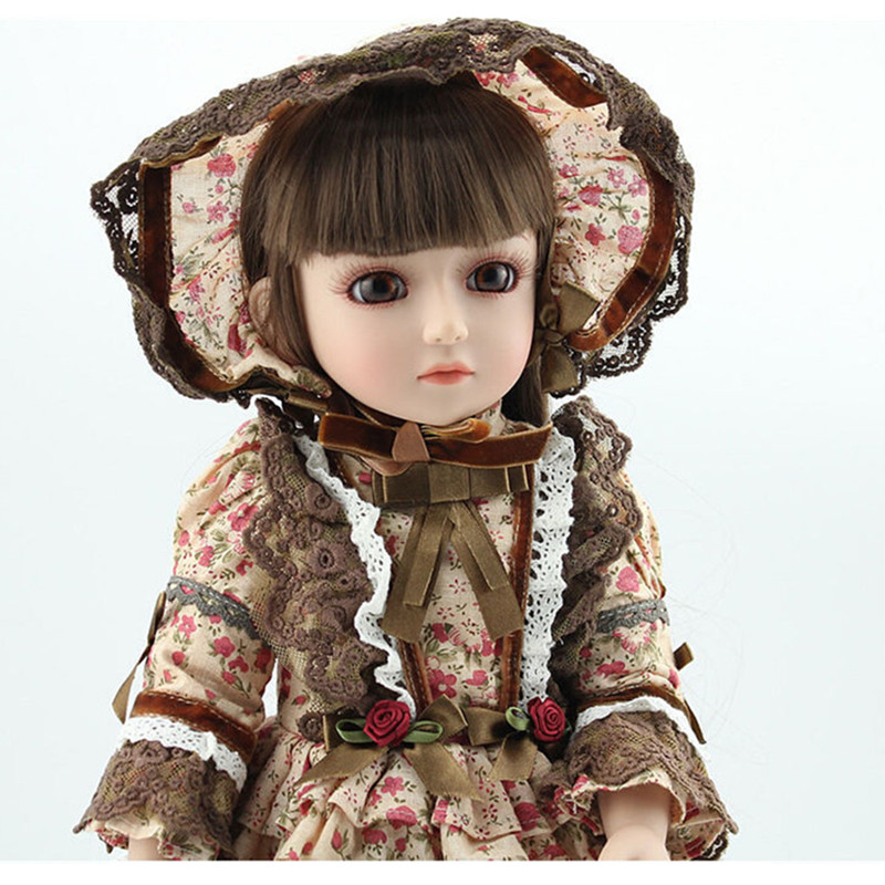 Hot Newest 18 Inch Handmade Vinyl Doll BJD Doll with Dress, Beautiful Princess Doll Toy for Children Christmas Gift super cute plush toy dog doll as a christmas gift for children s home decoration 20