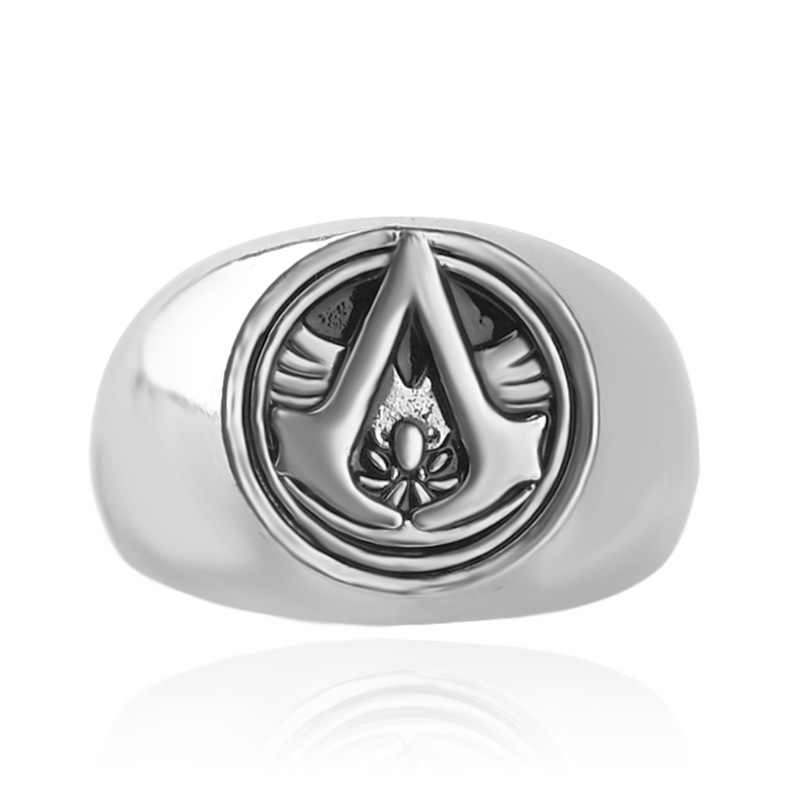 2016 New font b Anime b font surrounding Assassin s Creed man retro alloy ring free