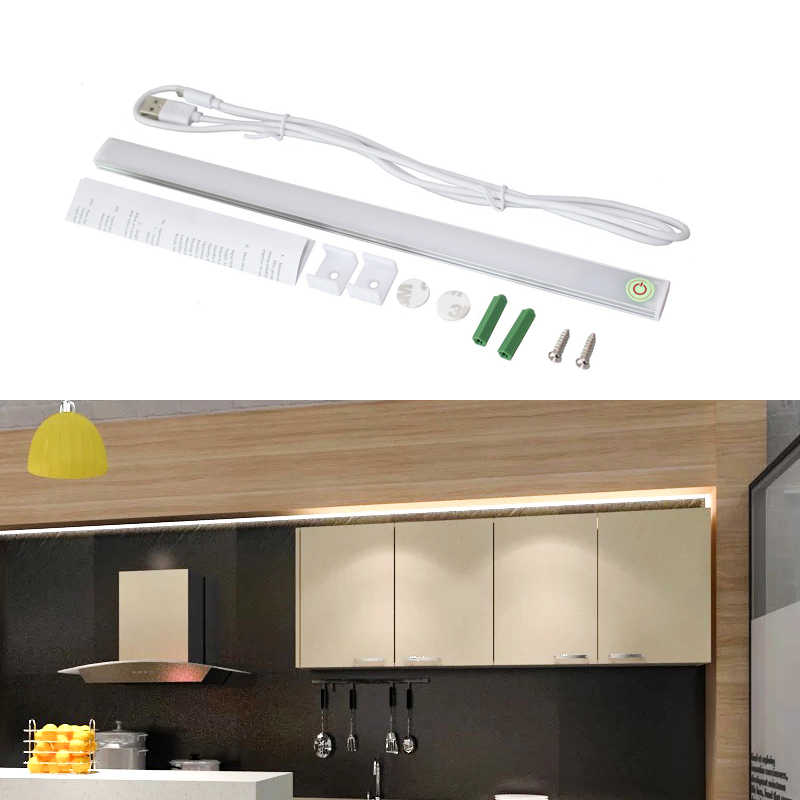 LED Touch Spotlight For Kitchen Cabinet Mirror Dormitory Learning Reading Table Strip Light Home Furniture Lamp Shield Eye Light
