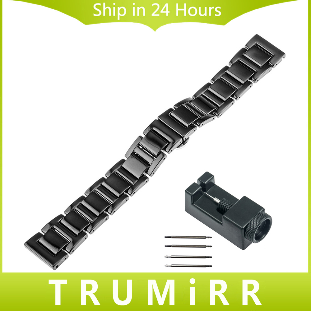16mm 18mm 20mm Full Ceramic Watchband for Tissot 1853 T035 PRC200 T055 T097 Watch Band Butterfly Clasp Strap Link Bracelet +Tool tissot t055 427 11 057 00