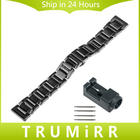 18mm 20mm Full Ceramic Watchband For Tissot 1853 T035 PRC 200 T055 T097 Watch Band Butterfly