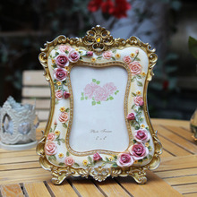 Quality fashion resin photo frame american rustic combination photo frame marry lovers luxury swing sets box continental american style gold resin luxury photo frame creative fashion like frame wall decoration