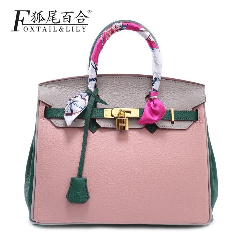 ФОТО  2016 New Fashion Cross body Bag Genuine Leather Brand Handbag Soft Shoulder Bag Designer Chain High Quality Bag for Women