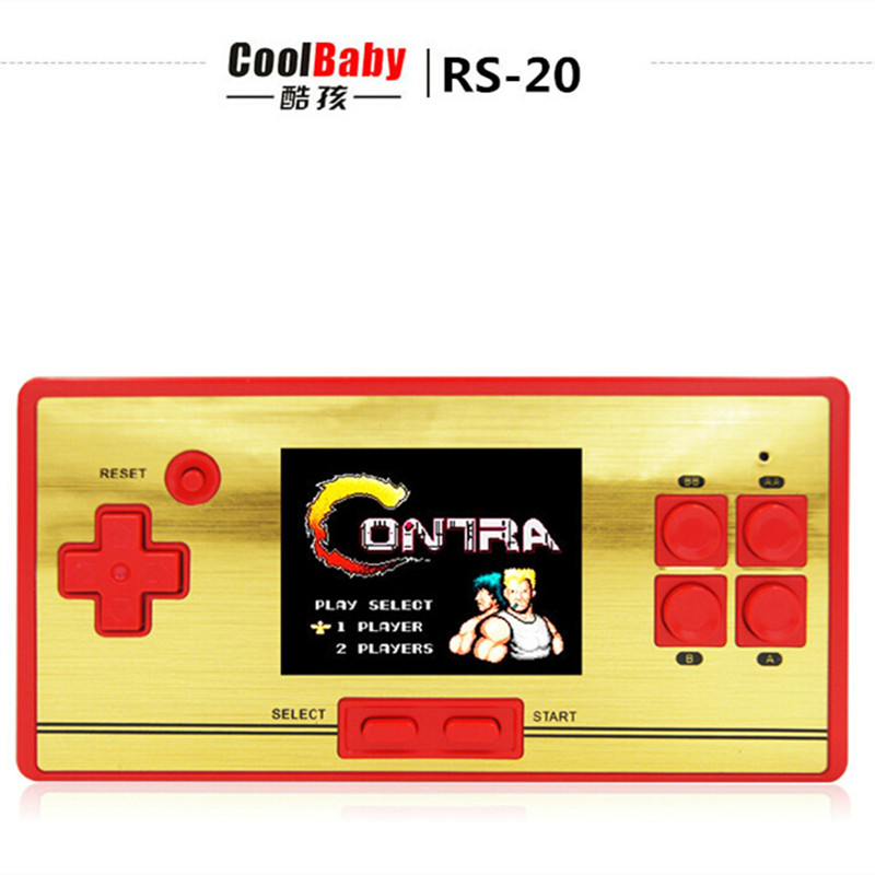 Original Coolbaby RS-20 Built 600 different games 2.6 inch Children handheld game console 8BIT handheld color tetris freeship