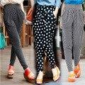 Envío gratis 2014 de primavera y verano pantalones harem ocasional pantalones femeninos longitud del tobillo pantalones flacos más el tamaño delgado
