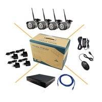 8CH NVR 4CH 720P 1MP HD IP Camera Wireless Wifi Network Security IR Light Night Vision