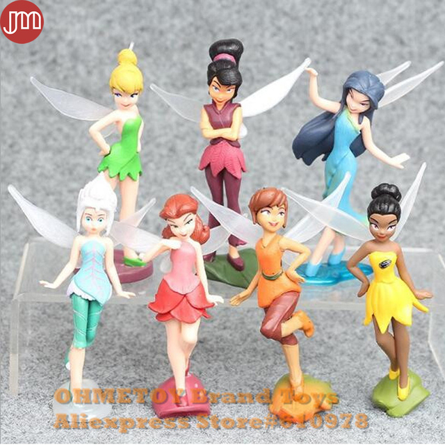 Ohmetoy 7pcs Tinker Bell Tinkerbell Fairy Figure Princess Toys