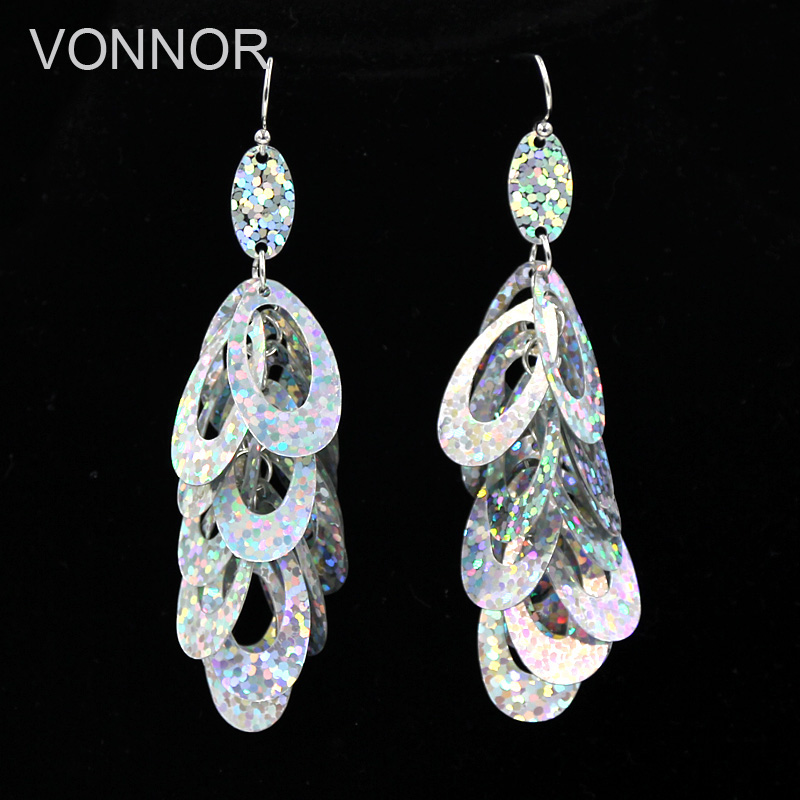 VONNOR Jewelry Earrings for Women Plated Colorful Sequins Earrings Party Jewelry Female Accessories