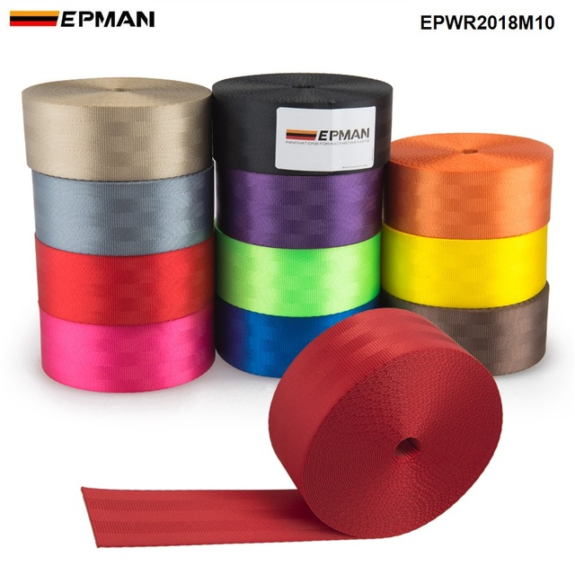 EPMAN Universal L:10M Seat Belt Clip  Fasteners Buckle Stop Buttons For Peugot Focus VW Audi BMW EPWR2018M10
