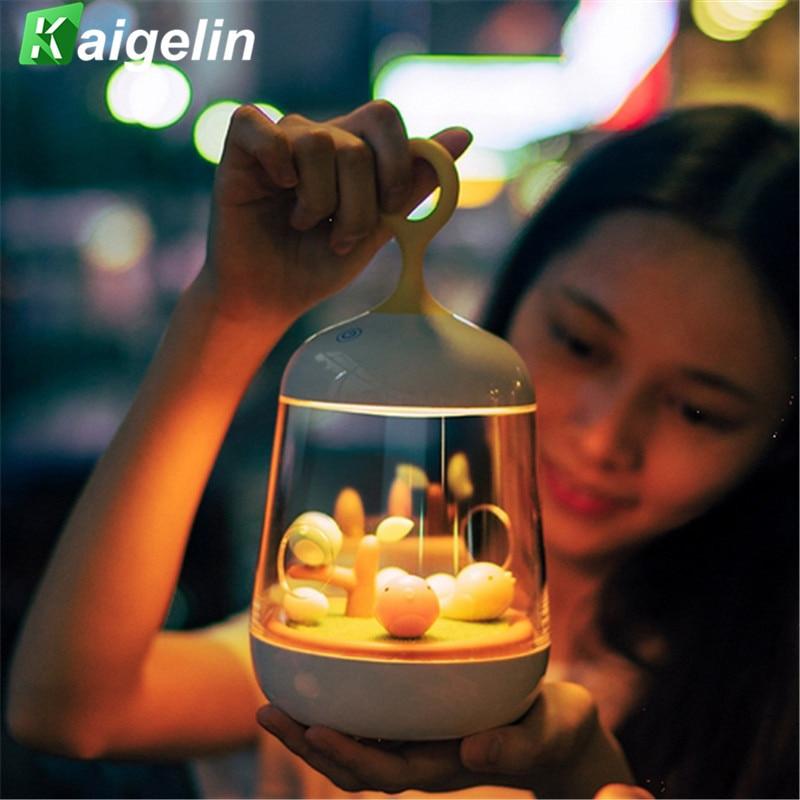 Novetly Luminaria Gece Lambası LED Zamanlama Işık Müzik Kutusu 3 - Gece Lambası