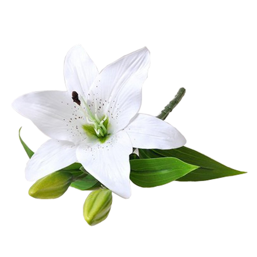 2018 new 1pcs real touch pvc artificial lily flowers for wedding 2018 new 1pcs real touch pvc artificial lily flowers for wedding decoration fake flowers bouquet office party home decor in artificial dried flowers from izmirmasajfo