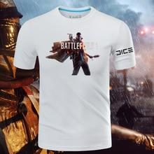 2016 Game Battlefield 1 T-shirts Short Sleeve Cotton O-Neck Printing Pattern Tops Tee Shirts