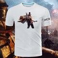 2016 jogo Battlefield 1 T de manga curta camisas algodão O pescoço padrão de impressão Tops camisetas