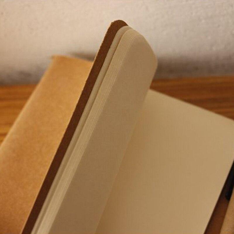 10 / partii Cowhide paberi sülearvuti tühi märkmiku raamat Vintage - Kaustikud ja kontoriraamatud - Foto 3