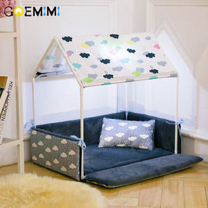 Tent Removable Cozy-House Puppy Dog-Bed Pet Dogs Animals Washable Small Home-Products