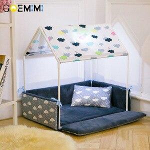 Image 1 - רחיץ בית צורת כלב מיטה + אוהל כלב מלונה לחיות מחמד נשלף בית נעים עבור גור כלבים חתול קטן חיות בית מוצרים