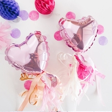 5inch Rose Pink Love Foil Heart Helium Balloons Wedding Birthday Party Valentines Day Globos Supplies Lover gifts