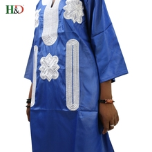 African bazin riche embroidery design dresses top with pants
