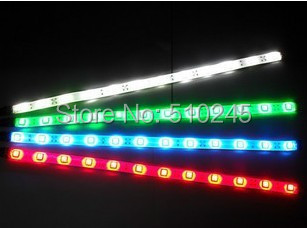 4X new arrival 30cm blue/green/red/white waterproof Light 5050 12 SMD High Power Flexible LED Car Strip free shipping