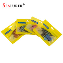 SEALURER Soft Lure 6pcs/lot 2.2g/75mm for Fishing Shad Fishing Worm Swimbaits Jig Head Soft Lure Fly Fishing Bait Fishing Lures