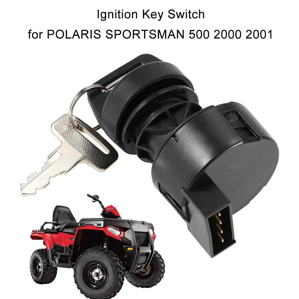 2 KEYS FOR POLARIS ATV TRAIL BOSS 2000 2001 4 WIRE IGNITION KEY SWITCH