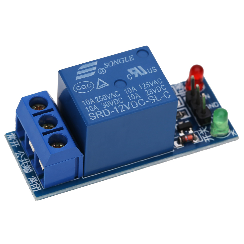 High Quality 12V One 1 Channel Relay Module Optocouple Board Shield For PIC AVR DSP ARM MCU Factory Price  12v 8 channel relay module board for pic avr mcu dsp arm electronic new original