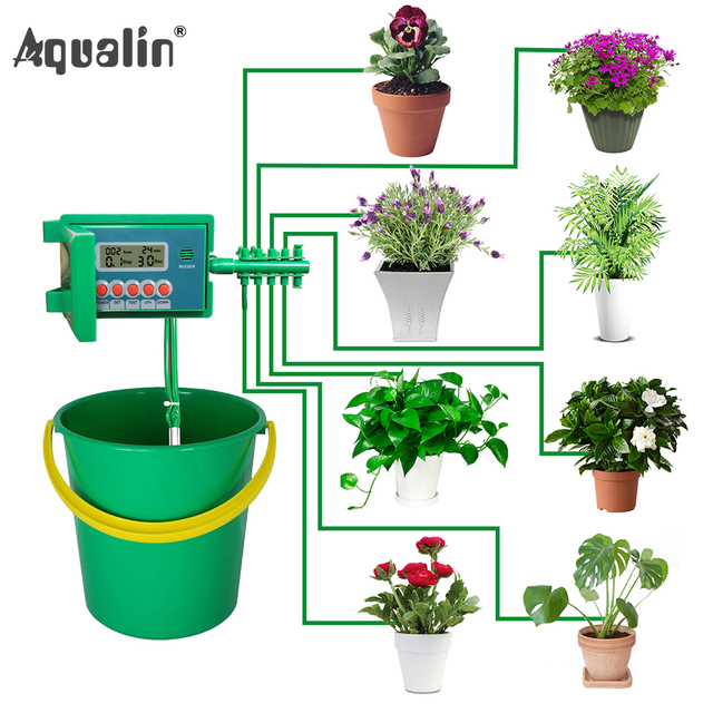 Automatic Micro Home Drip Irrigation Watering Kits System Sprinkler