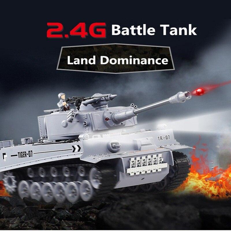 Allemand léopard 2A6 bataille Simulation armée militaire RC réservoir 47cm 1:18 2.4G télécommande Vibration fumée jouer balles réservoir