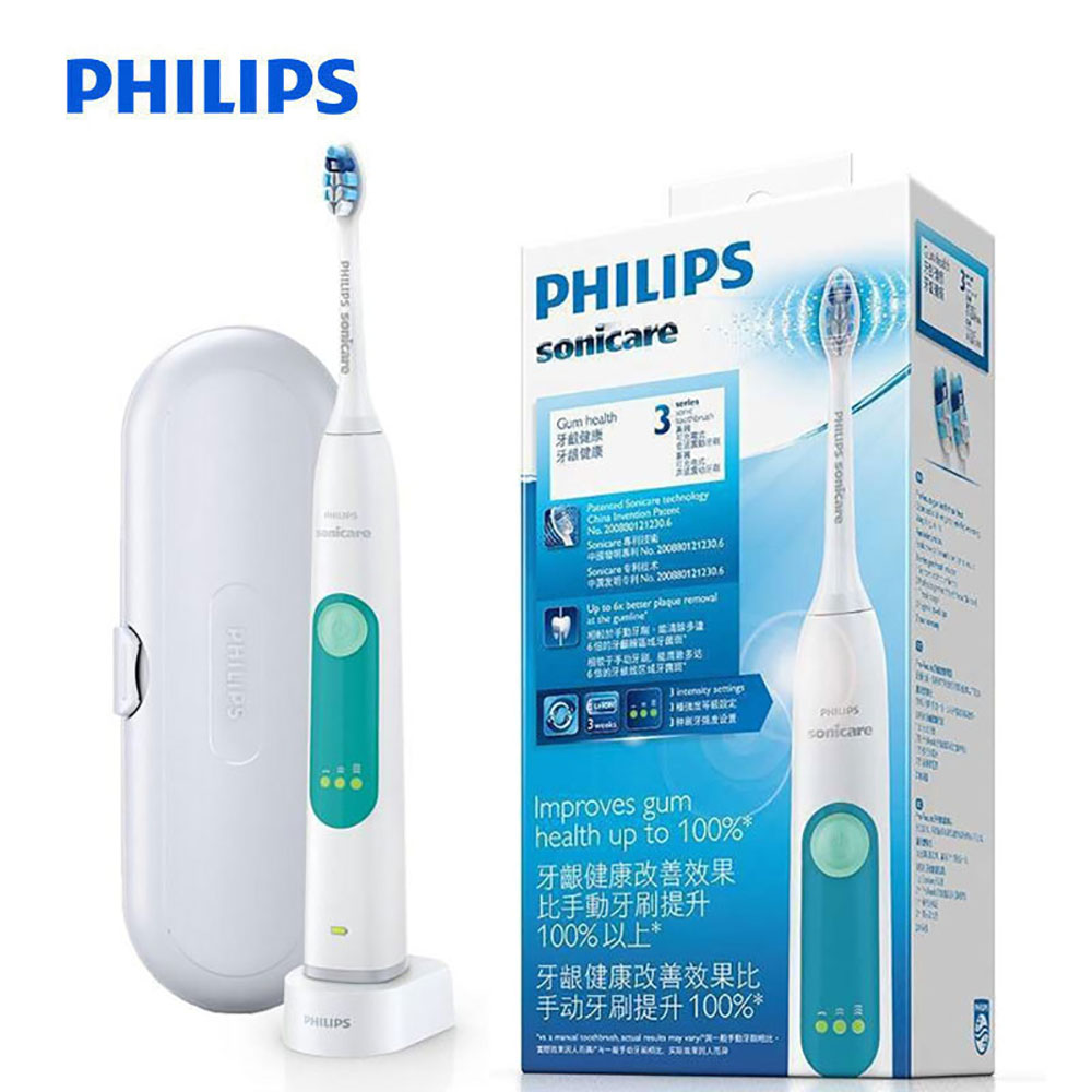 PHILIPS HX6631/01 Sonic Electric Toothbrush Rechargeable Tooth Brushes for Adult Whitening Healthy snap-in brush head waterproof image