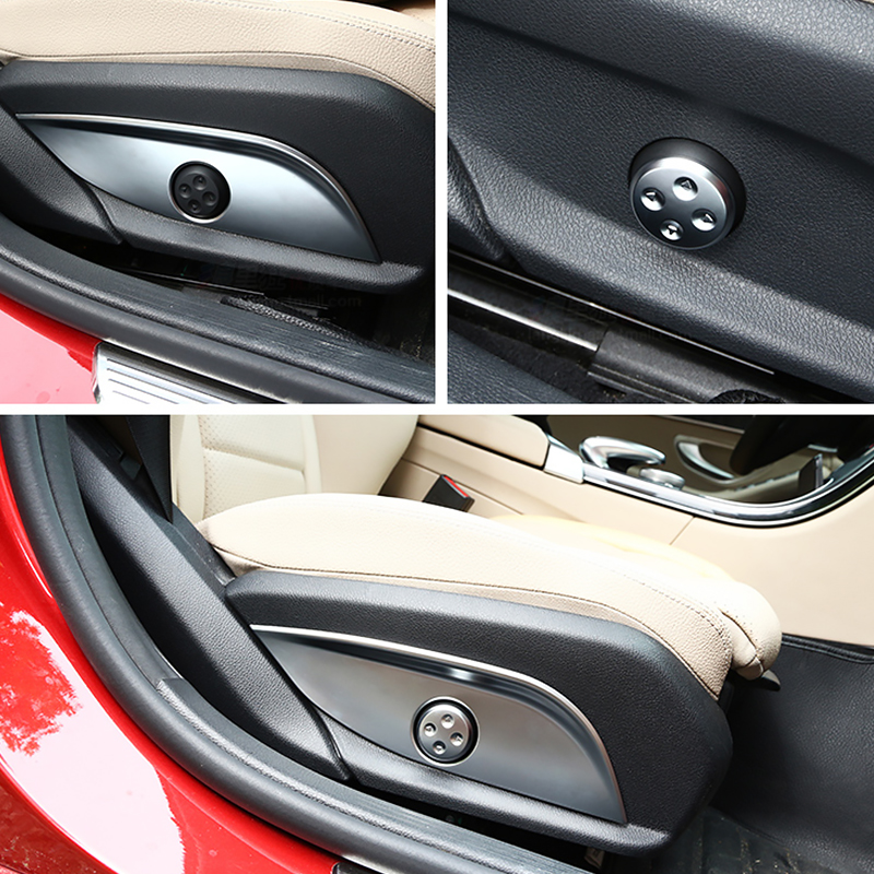 4 Styles Seat Adjustment Buttons Frame Trim For Mercedes Benz GLC CLS E C Class W205 W212 W213 Door Seat Adjust Switch Panel