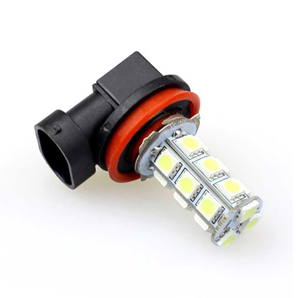 Super Putih dan Cerah DC 12 V LED Mobil Kabut Mengemudi Lampu 5050 SMD Auto Kabut Lampu untuk Kabut Cuaca mengemudi H8/H11